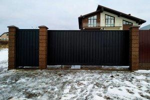 Откатные ворота (Ш-4300,В-2050) с калиткой