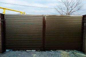 Ворота распашные с установкой под ключ
