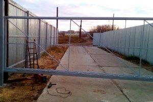 Откатные ворота за 43000 руб.