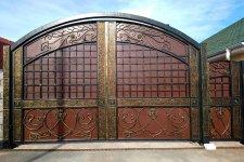 Распашные ворота в Нижнем Новгороде, реализация, монтаж