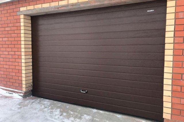 Гаражные секционные ворота DoorHan серии RSD01-BIW-SC-№2